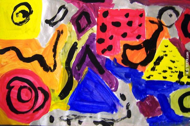 這些小孩子的畫作比一些專業藝術家的好太多了。看過後不承認也不行!