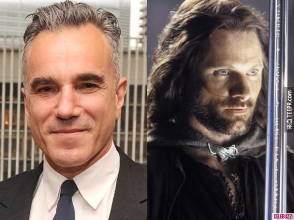 5. 丹尼爾·戴路易(Daniel Day-Lewis)斯拒絕演了魔戒的男主角亞拉岡(Aragorn),後來才讓給現在的男主角維高·摩天臣(Viggo Mortensen)