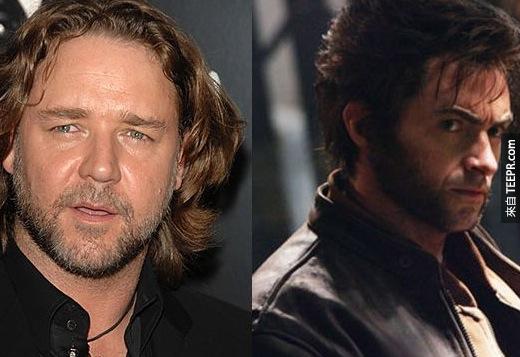 15. 羅素·克洛(Russell Crowe)當金剛狼(Wolverine)?好吧,那股野性是挺適合的!
