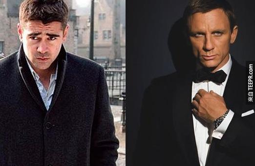 16. 柯林·法洛(Colin Farrell)原本代替丹尼爾·克雷格(Daniel Craig)在皇家夜總會(Casino Royale)飾演007。