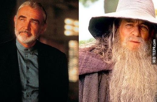 18. 史恩·康納萊(Sean Connery)也被選為魔戒(Lord of the Right)的甘道夫(Gandalf),但現在伊恩·麥克連(Sir Ian McKellen)已經是甘道夫的代表了(還有萬磁王啦!)