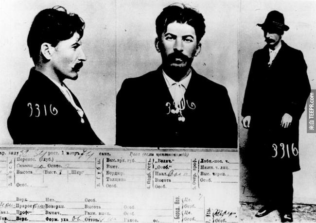 12.) 史達林( Joseph Stalin  )在沙皇秘密警察那裡留下了記錄,1911。