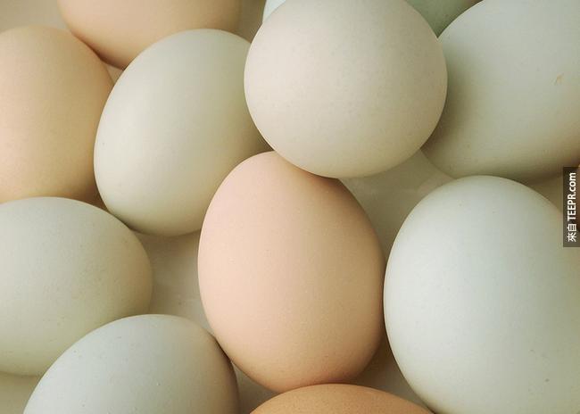 10. 蛋:蛋白質可以幫助穩定血糖跟分解毒素的胱氨酸。
