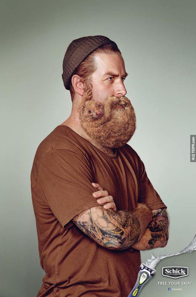 6.) 難刮的鬍子就要用這個牌子的刮鬍刀?