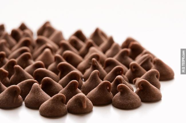 9. 好時(Hershey)巧克力每天製造超過8,000萬顆「Kisses」巧克力。