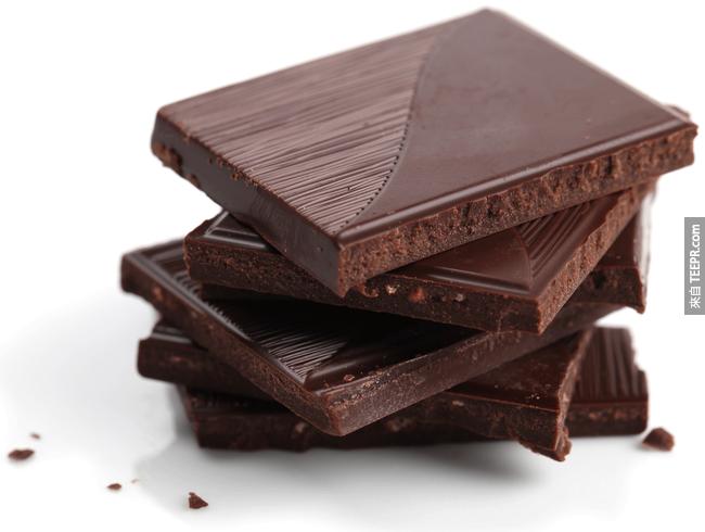 11. 經常吃黑巧克力有助減少心臟病的風險。