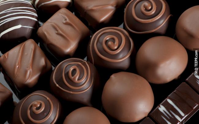 7. 吃巧克力有助於預防蛀牙。