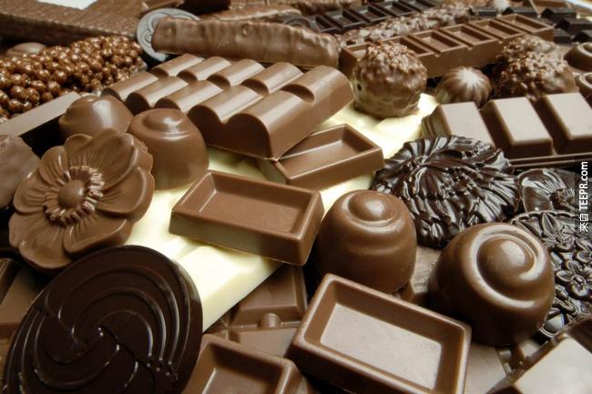 12. 吃巧克力不會讓你長痘痘。