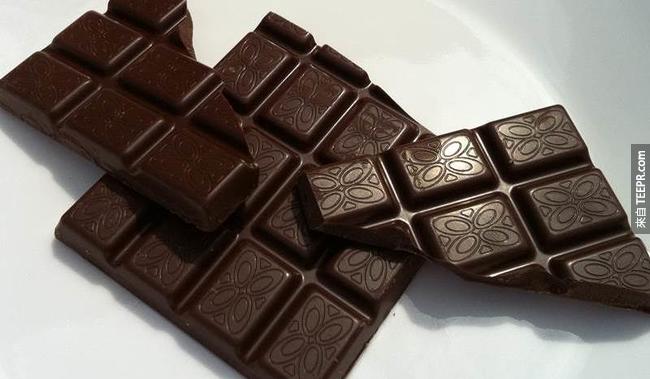 16. 吃黑巧克力能幫助你在低對比度情況下的視力。