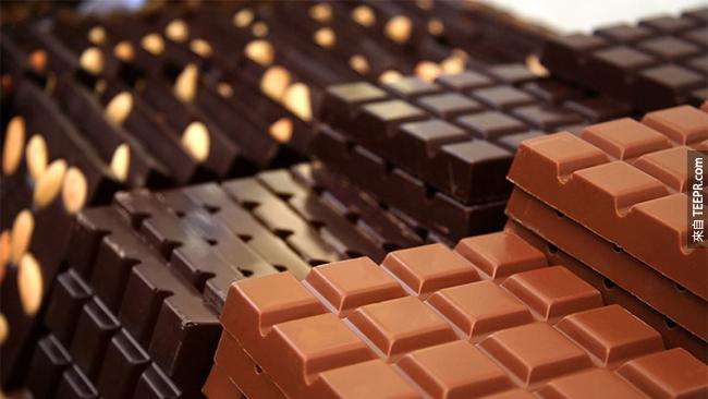 15. 巧克力被認為是個很好的、天然的止咳藥。