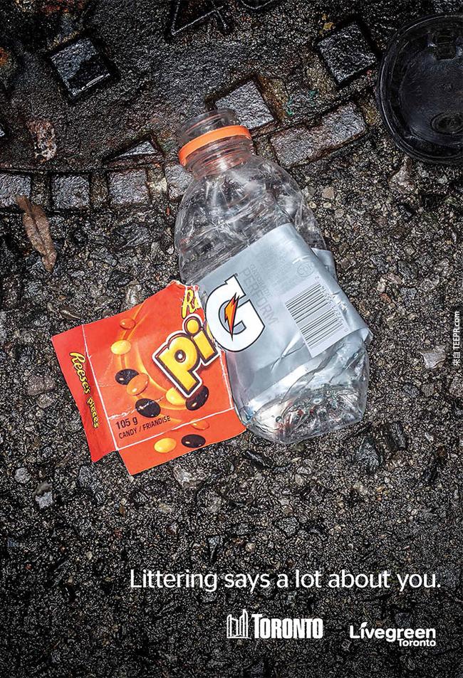 這個聰明的反垃圾活動可能會讓你再也不想亂丟東西了。我就再也不會了!