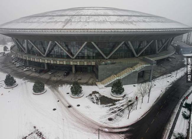 2008北京奧運的老山自行車館(Laoshan Velodrome) 。