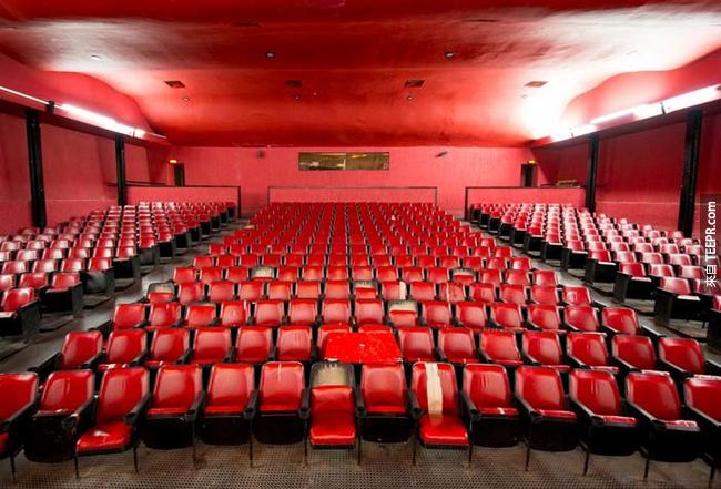 1968年墨西哥奧運,奧運村裡頭的電影院。
