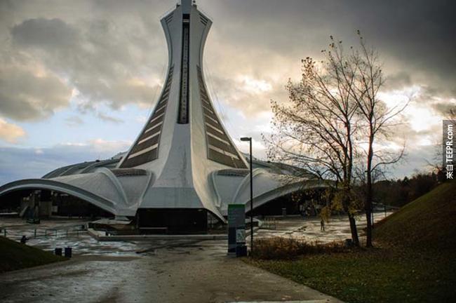 1976年蒙特婁(Montreal)夏季奧運體育館。