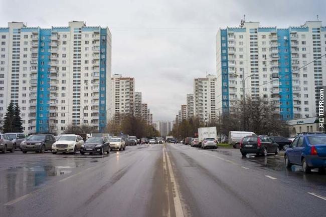 1980年莫斯科(Moscow)夏季奧運的選手村,後來被改造成現在政府公務員所居住的公寓。