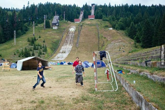 1984年塞拉耶佛(Sarajevo)奧運的滑雪場。