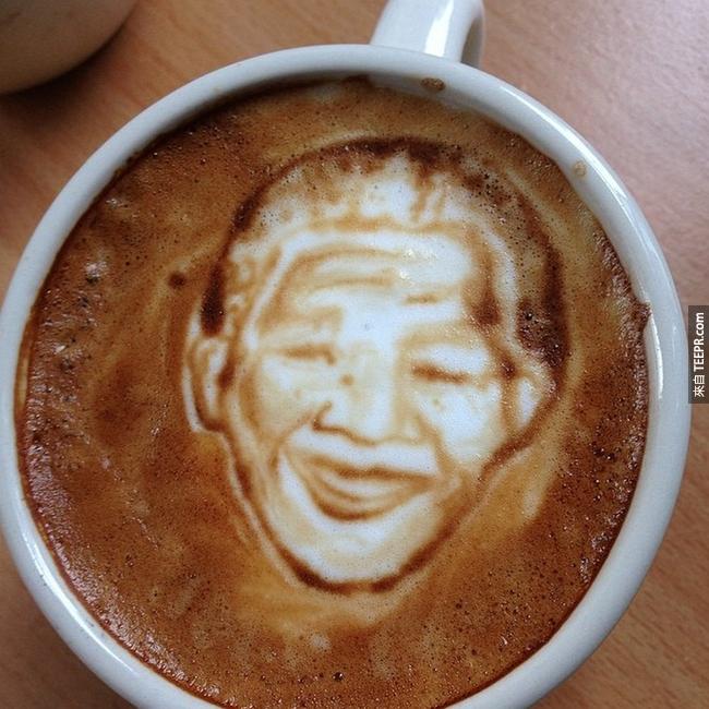 南非人權領袖,曼德拉(Nelson Mandela)。