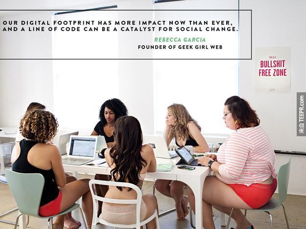 這些科技女強人穿內衣的廣告引起了很大的爭論。有鄙視嗎?