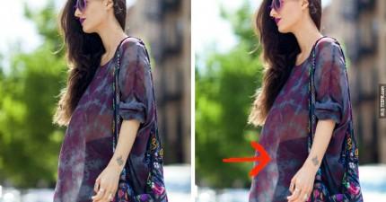 這位知名時尚部落客向所有的女性自首。這些才是PS修改之前的照片。