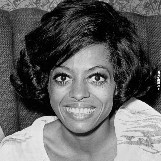 9. 黛安娜·羅斯(Diana Ross) 1970 (26歲)