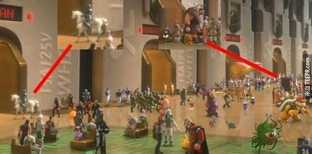 18. 在《無敵破壞王》裡面,費林·雷德的馬Maximus和其中在Snuggly Duckling酒吧裡面的惡霸也有抽空來客串。