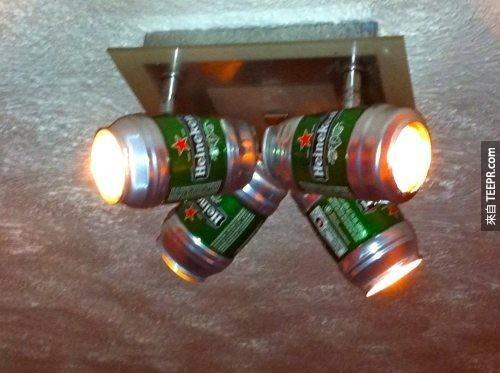這樣的燈飾,不但省錢、還很適合派對使用呢!
