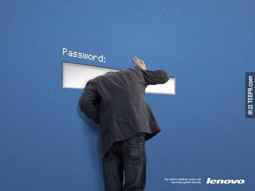 联想(Lenovo)电脑:联想电脑有罪新的脸部辨识安全系统。