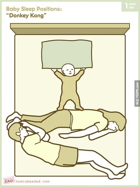 到底怎麼樣跟小嬰兒睡覺才正確?讓這10個爆笑的圖畫開你的眼界。