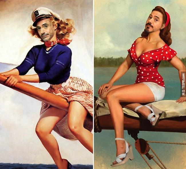 如果你有想過「海報女郎」小勞勃道尼會長得什麼樣子的話,這就是你的解答。