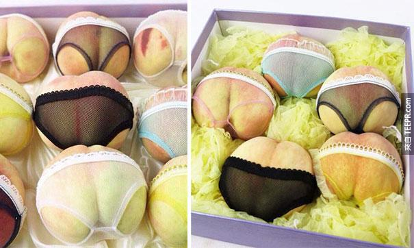 這家水果店發現到最有趣的方法把他們的桃子變得更有吸引力。太有效了!