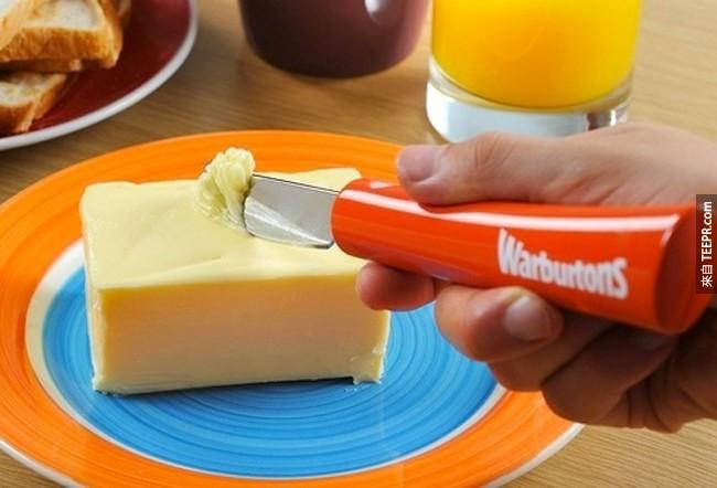 4. 会加热的奶油刀,让你可以切过冰冻的奶油。