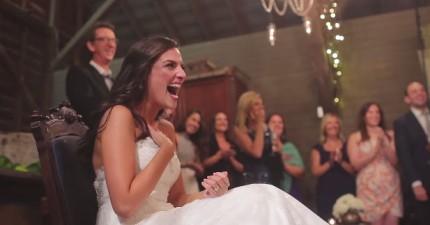 這對情侶向對方發誓不會在婚禮上給對方驚喜,但都沒有遵守。新郎偷偷準備的驚喜真的太棒了!