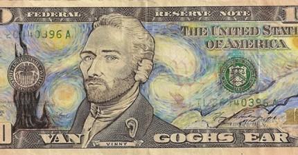 這個人對這些鈔票做的事情是違法的,但我超愛的!