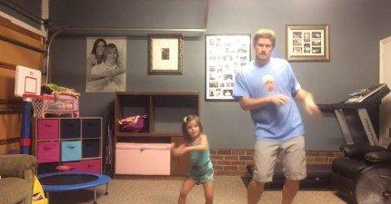 這對父女跳泰勒絲的Shake It Off的影片把所有人都萌翻了!