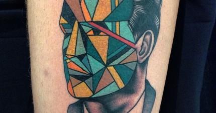 這位藝術家把刺青帶到全新的境界。應該要擺在美術館了!