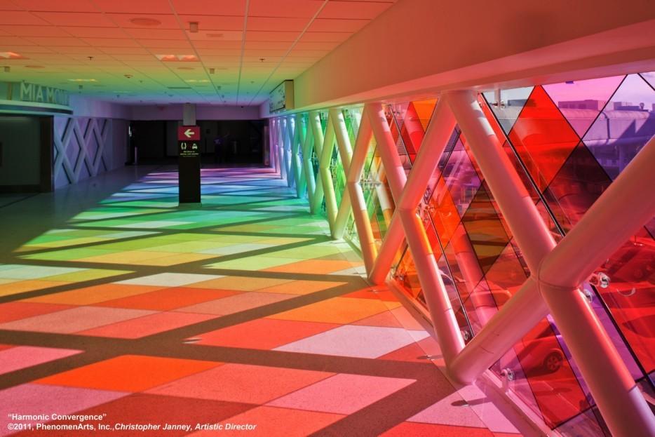 和諧的幾何色彩 , Christopher Janney 的作品。(美國)