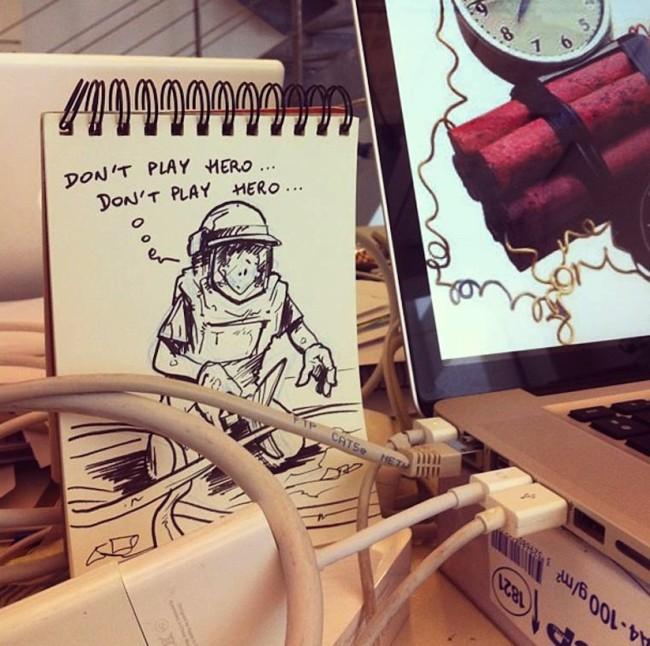 這名漫畫家用這些跟周圍互動的的漫畫,教我們怎麼讓自己的心情更好!