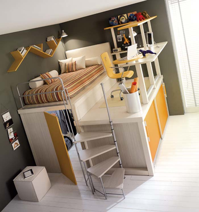 24.) It's a bed, closet, and office all rolled into one.