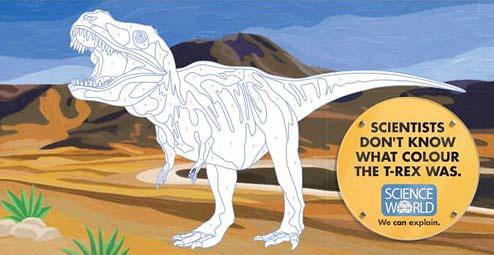科學家不知道恐龍是什麼顏色的。