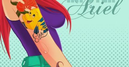 這些迪士尼公主變成不良少女的樣子真的好有FEEL!這個版本我要看!