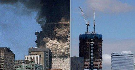 11張911恐怖攻擊的之前之後照,讓你看到紐約從最低點回復了多少。