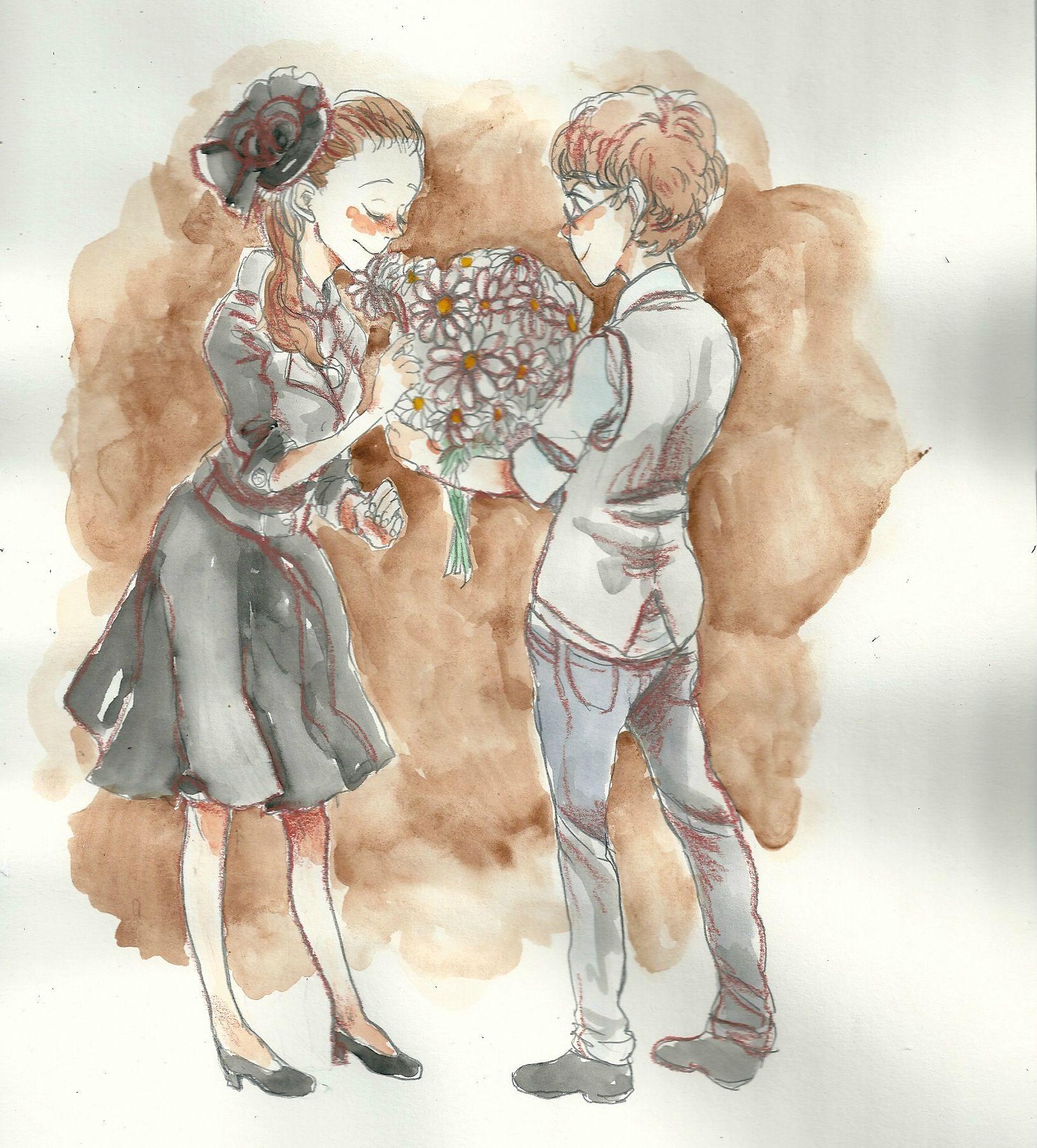 這名男子找了18名畫家幫他出完美的「求婚漫畫」。不說好都不行!