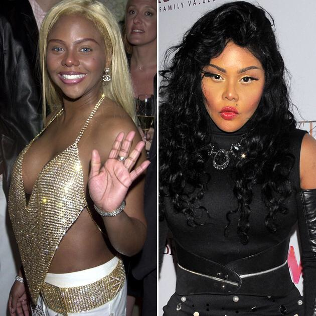 5. 嘻哈歌手莉儿金(Lil Kim),不知道是化妆的关系还是其他因素,是完全不一样的一个人啊!