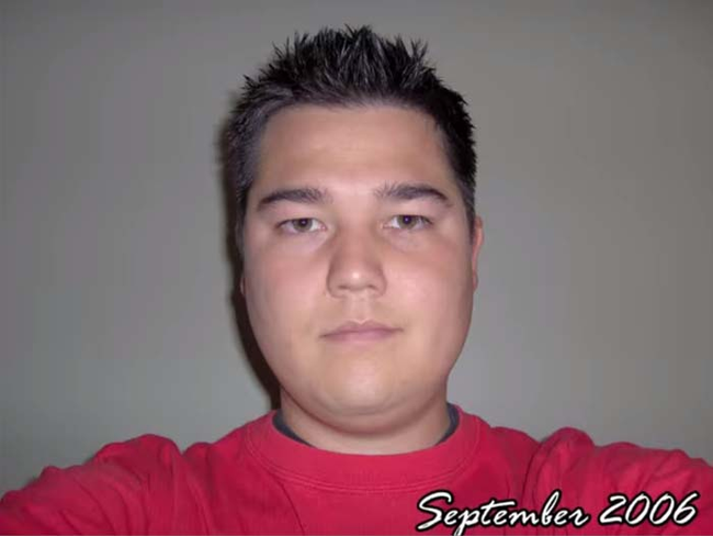 His selfie-a-day project has been going on since September 2006.