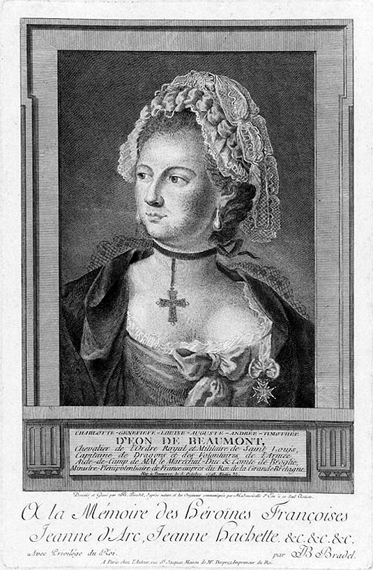18. Chevalier d'Eon在法國,他人生的中晚期,都是以一個女人的身分度過並死去。事實上,「他」是個男性間諜,直到1810年後才被發現他的真實身分。