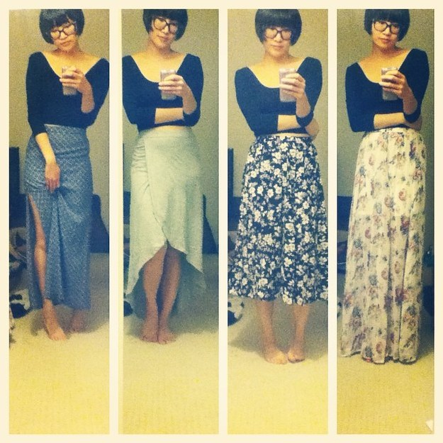 ...and every skirt becomes a maxi skirt.