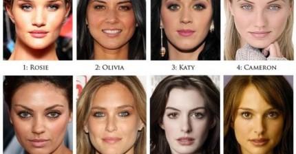 PS融合了這8位最美女星的臉。這些就是「全世界最美的女人」的面貌嗎?