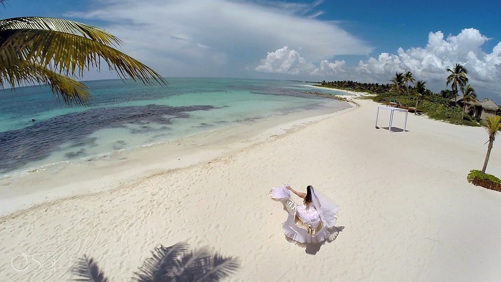 美麗的婚紗照中只有新娘,背後的故事會讓你感動掉淚。