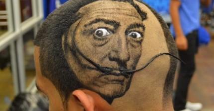 畫出好看的圖畫已經很難了,但是這名理髮師卻能「剪」出這些令人吃驚的「造型」!