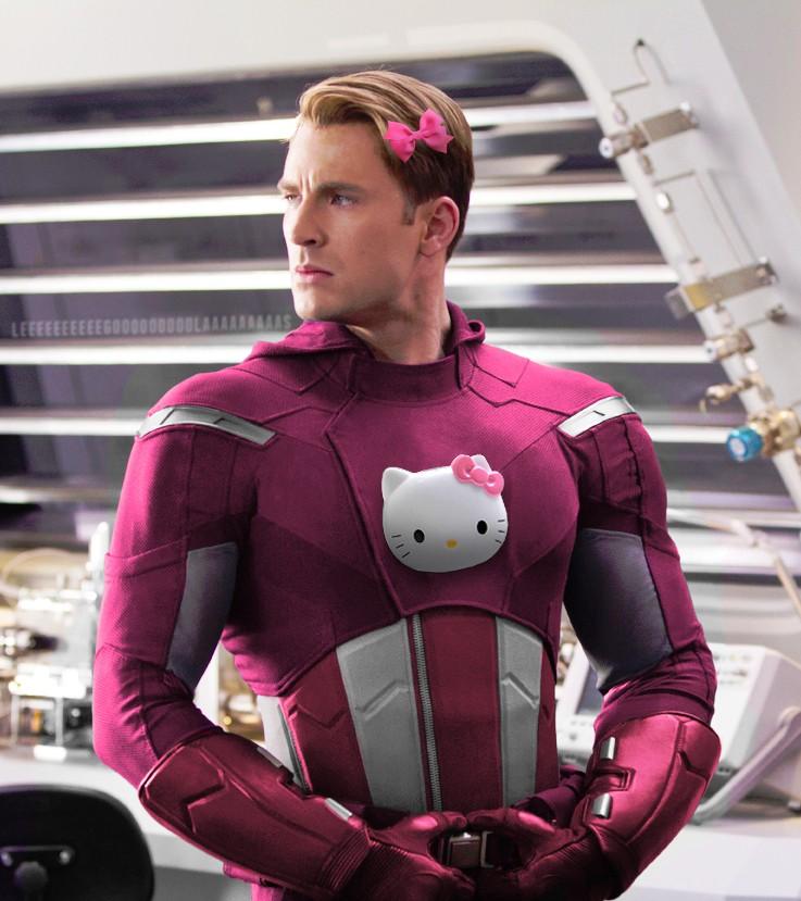 當你最喜歡的超級英雄變成Hello Kitty主題的話,你還會喜歡他們嗎?